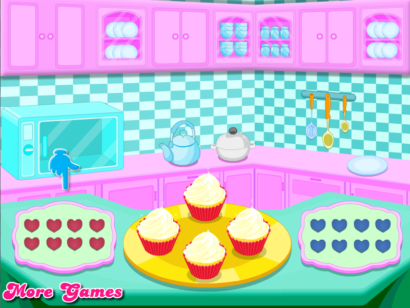 Cooking Cute Heart Cupcakes - screenshot