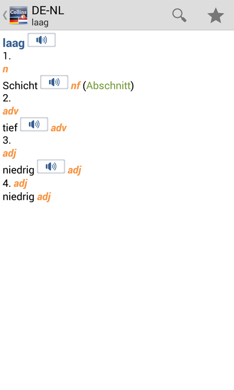 German<>Dutch Dictionary T- screenshot