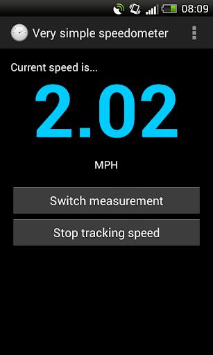 Very simple speedometer