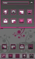Screenshot of Magenta Go Launcher EX Theme