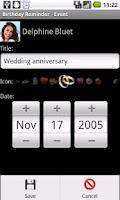 Screenshot of Birthday Reminder GL DEMO