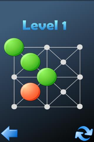 Screenshots of Hopping dots - logic puzzle for iPhone