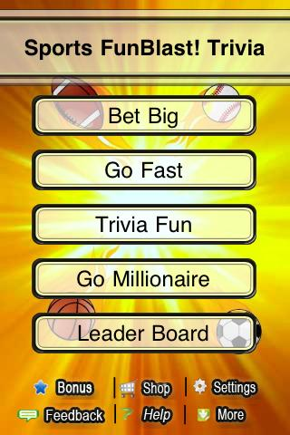 Sports FunBlast Trivia Quiz - screenshot