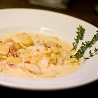 Creamy Smoked Cod Soup.