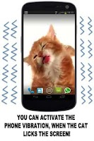 Screenshot of CAT LICKS LIVE WALLPAPER PRO