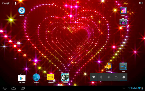 Sparkle Glitter Heart Tunnel app (apk) free download for Android/PC/Windows screenshot