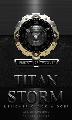 Titan Storm Clock Widget
