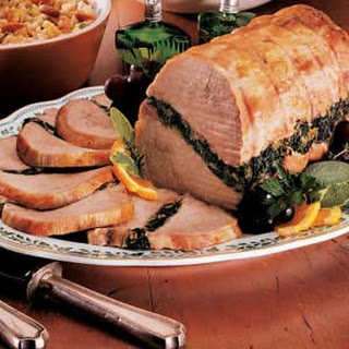 Spinach-Stuffed Pork Roast.