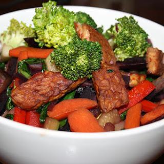 Crispy Tempeh & Vegetable Stir Fry.
