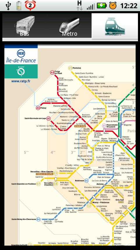 Paris Bus Metro Train Maps- screenshot