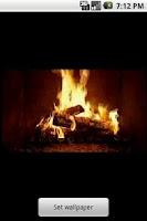 Screenshot of Yule Log Fire Live Wallpaper