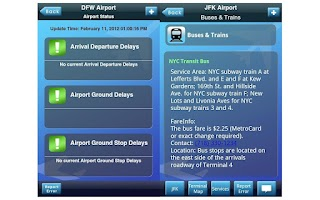 Screenshot of iFly Airport Guide
