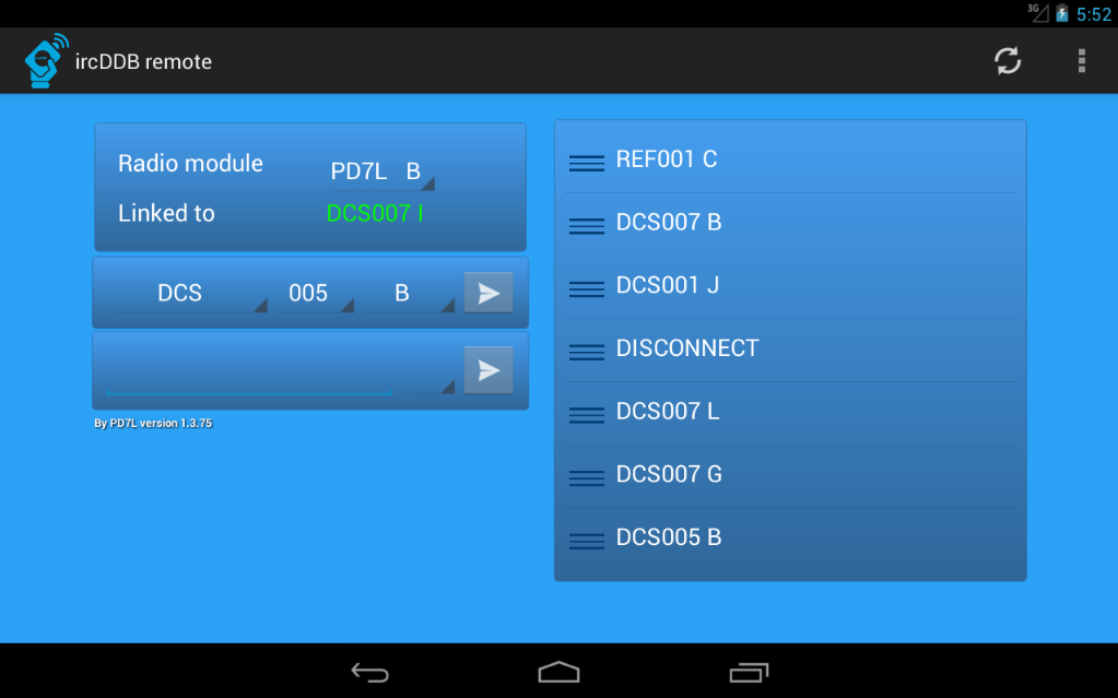 ircDDB remote- screenshot