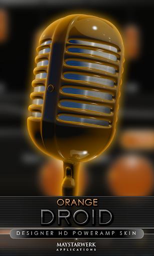 Poweramp skin orange droid
