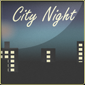 City Night Theme Widget Clock