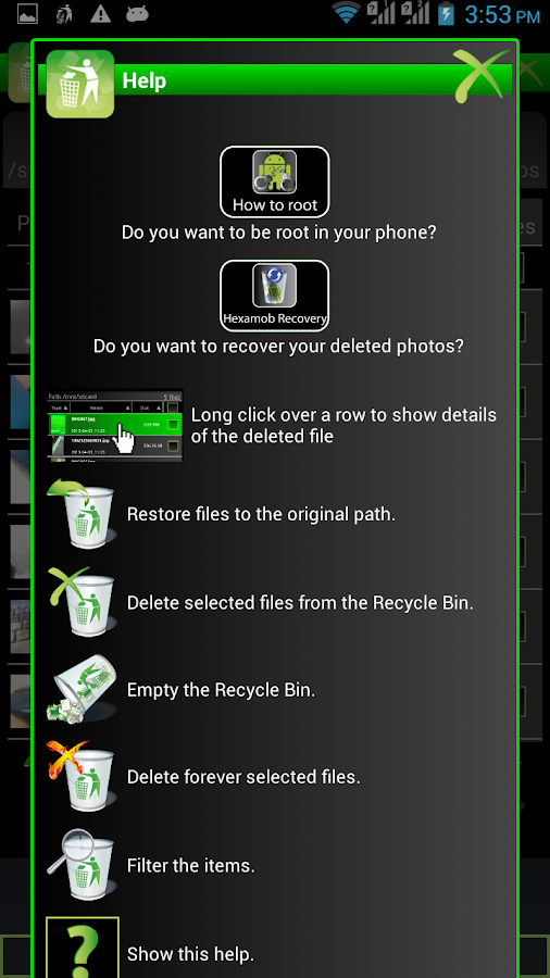 Recycle Bin for Android - screenshot