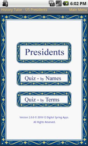 History Tutor US Presidents