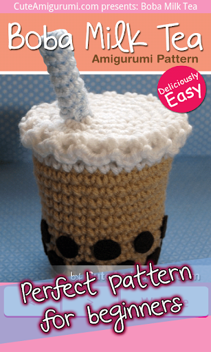Boba Milk Tea Crochet Pattern