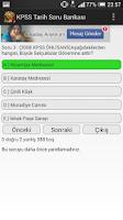 Screenshot of KPSS Tarih Soru Bankası