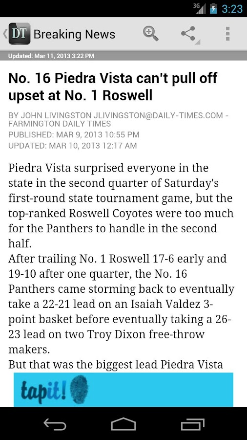 Farmington Daily Times - screenshot