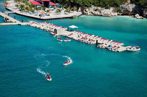 Labadee-water-sports-Royal-Caribbean - Take a jetski out for a spin when your Royal Caribbean sailing takes you to  Labadee, its 260-acre private beach resort on Haiti's north coast.