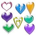 Glass Hearts 2D Live Wallpaper icon