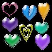 Glass Hearts 2D Live Wallpaper