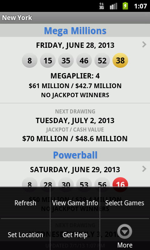 Lotto Results Premium - screenshot