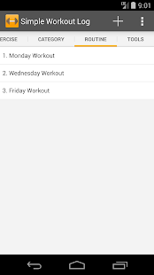 Simple Workout Log- screenshot thumbnail