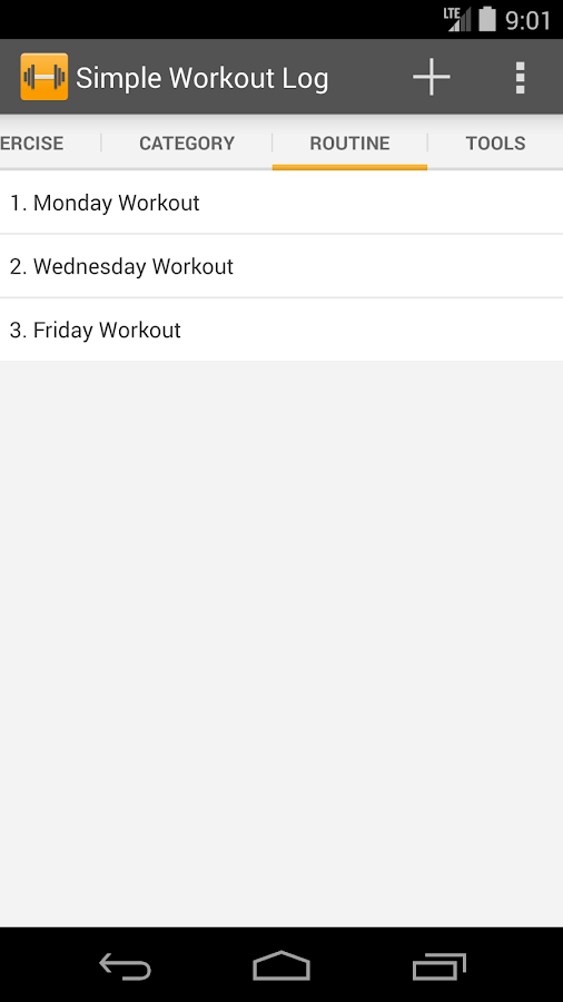 Simple Workout Log- screenshot