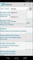 Screenshot of hashLog