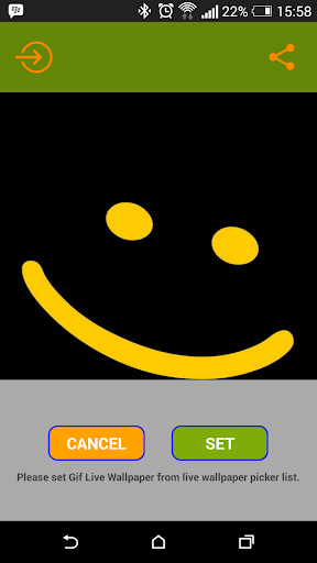 Smile live wallpaper