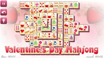 Screenshot of Valentine's Day Mahjong