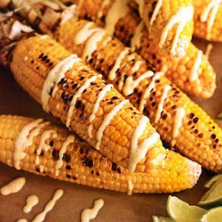 Indian Corn with Curried Yogurt Recipe
