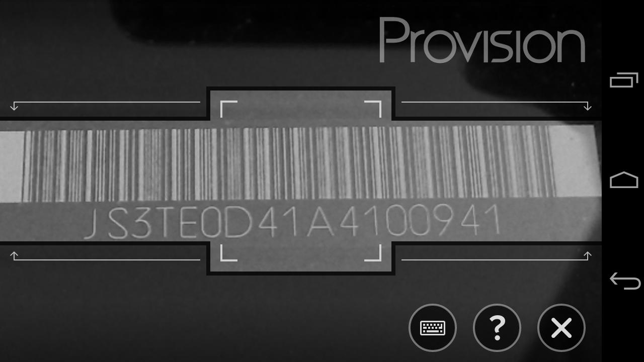 Provision - screenshot