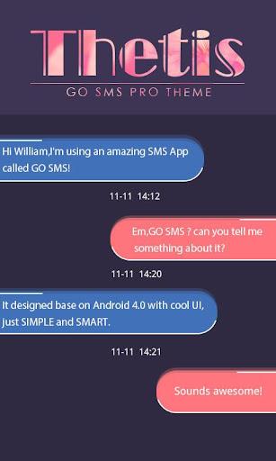 GO SMS PRO THETIS THEME