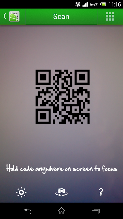 QR Droid Code Scanner – Screenshot