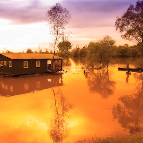 On The River by Zeljko Jelavic - Novices Only Landscapes (  )
