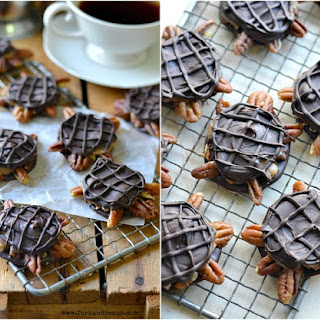 Vegan Chocolate Turtles.