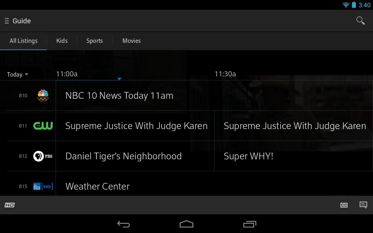 XFINITY TV - screenshot