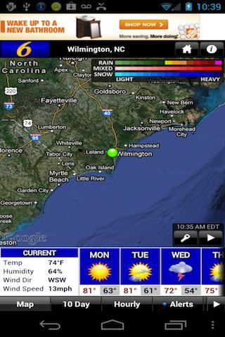 WECT 6 First Alert Weather - screenshot
