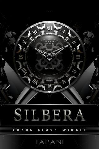 SILVER MOON ALARM CLOCK WIDGET