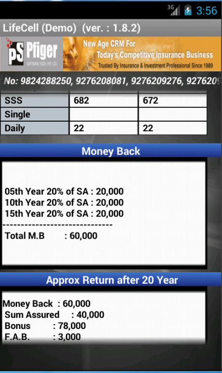 LifeCell Premium Calculator - screenshot