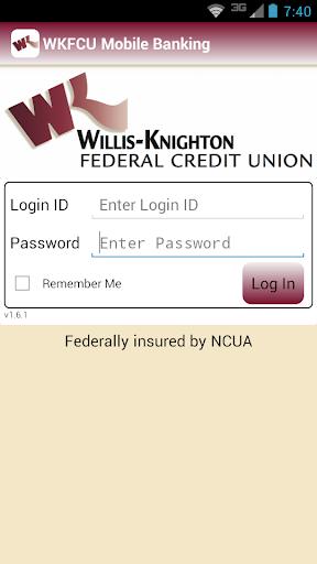 WKFCU Mobile Banking