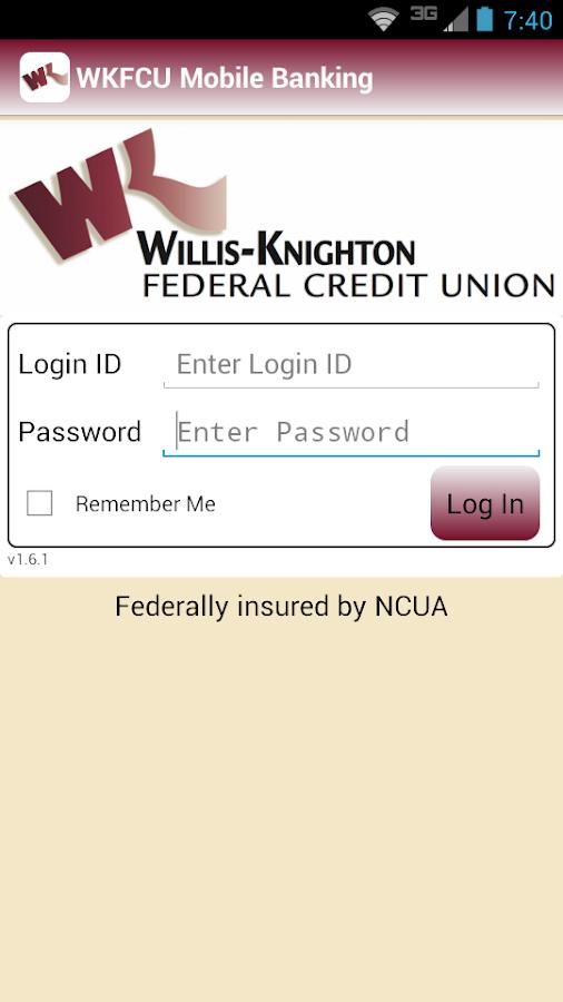 WKFCU Mobile Banking- screenshot