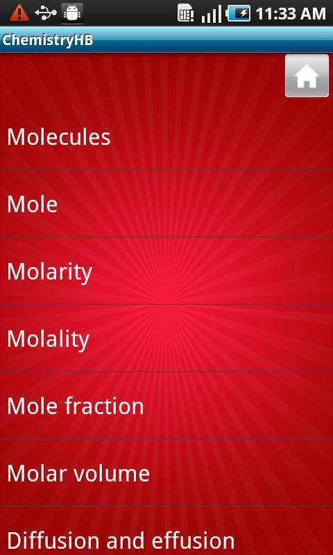 Chemistry Handbook- screenshot