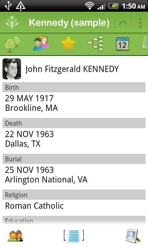 FamilyGTG (free) - Family Tree - screenshot