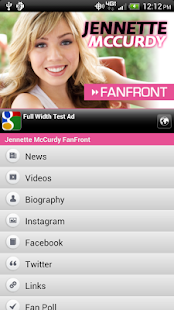 Jennette McCurdy FanFront - screenshot thumbnail