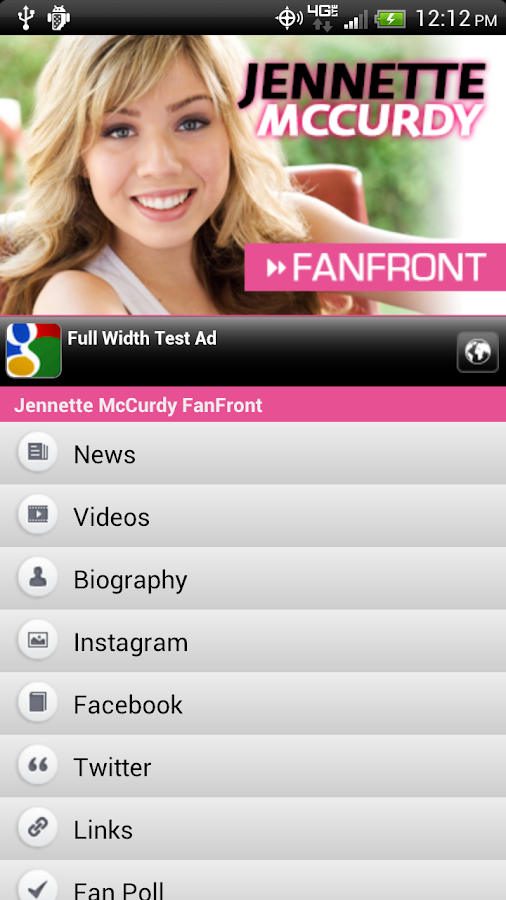 Jennette McCurdy FanFront - screenshot
