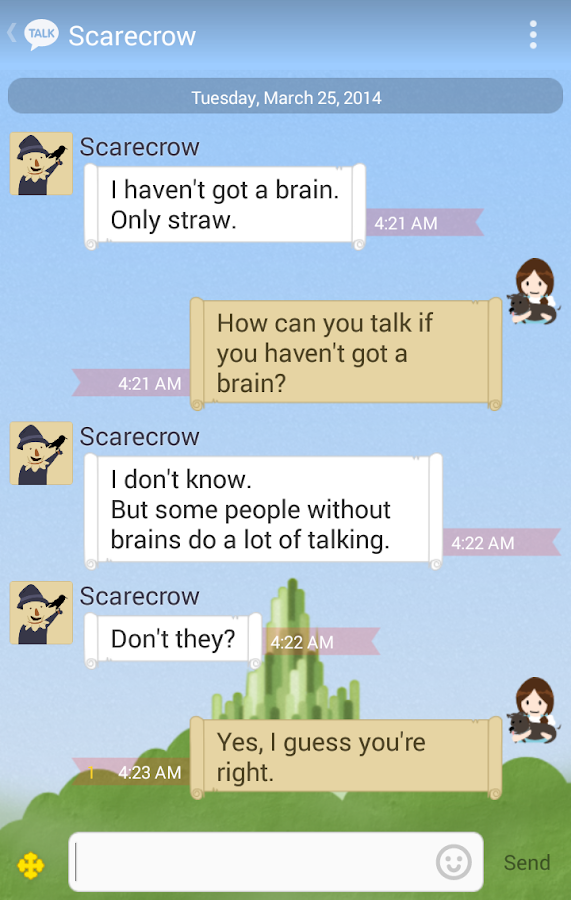 Wizard Of OZ - KakaoTalk Theme - screenshot
